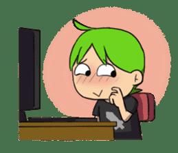 Green Boy Gamer sticker #2867265