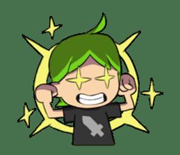 Green Boy Gamer sticker #2867269