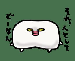 Annoying marshmallow. sticker #2868307