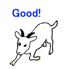 Wonderful goats sticker #2871614