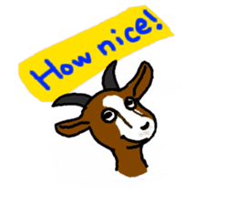 Wonderful goats sticker #2871619
