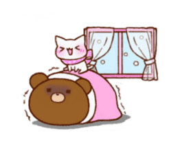 The bear and cat to love sticker #2888462