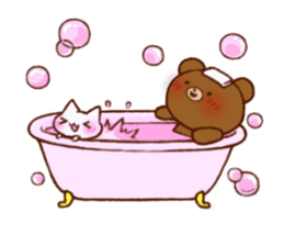 The bear and cat to love sticker #2888466