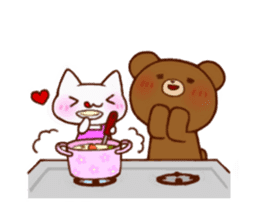 The bear and cat to love sticker #2888467