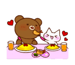 The bear and cat to love sticker #2888468