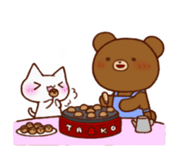 The bear and cat to love sticker #2888469