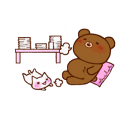 The bear and cat to love sticker #2888470