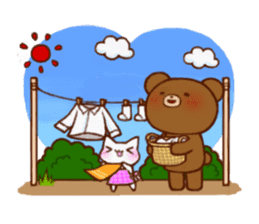 The bear and cat to love sticker #2888471