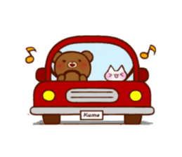 The bear and cat to love sticker #2888475