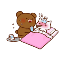 The bear and cat to love sticker #2888477