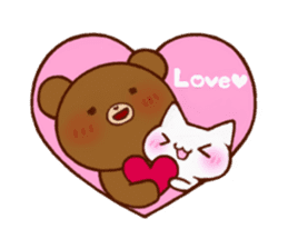 The bear and cat to love sticker #2888480