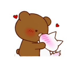 The bear and cat to love sticker #2888482