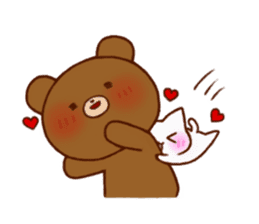 The bear and cat to love sticker #2888484