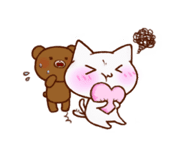 The bear and cat to love sticker #2888488