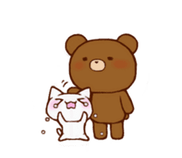 The bear and cat to love sticker #2888489