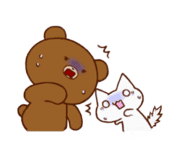 The bear and cat to love sticker #2888490