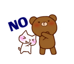 The bear and cat to love sticker #2888492