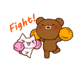 The bear and cat to love sticker #2888493