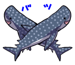 Kawaii Whale shark sticker #2900798