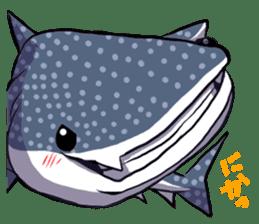 Kawaii Whale shark sticker #2900800