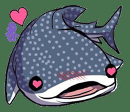 Kawaii Whale shark sticker #2900804