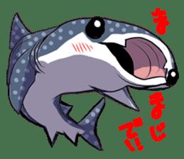 Kawaii Whale shark sticker #2900805