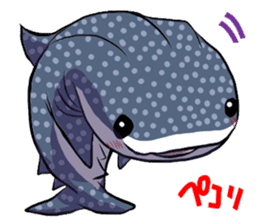 Kawaii Whale shark sticker #2900807