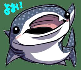 Kawaii Whale shark sticker #2900812
