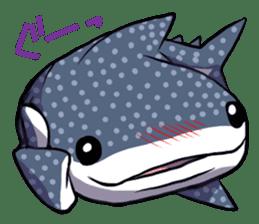 Kawaii Whale shark sticker #2900817