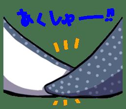 Kawaii Whale shark sticker #2900821