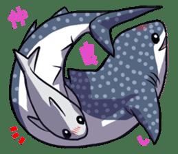 Kawaii Whale shark sticker #2900822