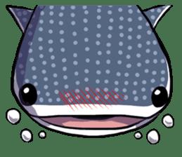 Kawaii Whale shark sticker #2900823