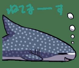 Kawaii Whale shark sticker #2900828