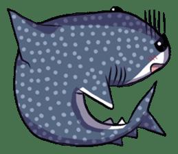 Kawaii Whale shark sticker #2900833