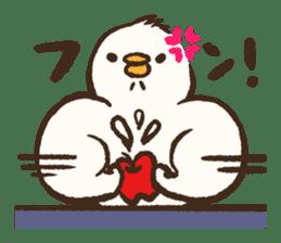 A muscular bird sticker #2902476