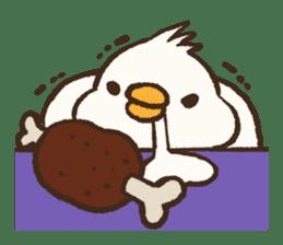 A muscular bird sticker #2902493