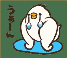 A muscular bird sticker #2902495