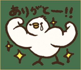 A muscular bird sticker #2902498