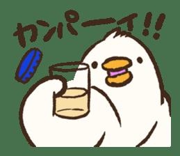 A muscular bird sticker #2902505