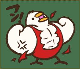 A muscular bird sticker #2902513