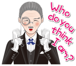 My lady and a butler  [ English Ver. ] sticker #2906260