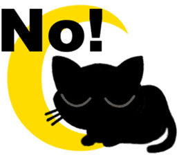 Moon and black cat sticker #2910439