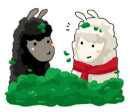 Llama in Love: Happy Valentine sticker #2913642