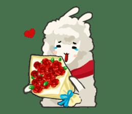 Llama in Love: Happy Valentine sticker #2913644