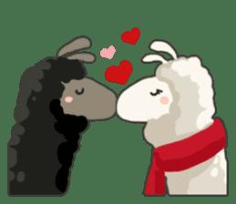 Llama in Love: Happy Valentine sticker #2913646