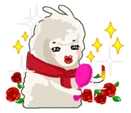 Llama in Love: Happy Valentine sticker #2913648