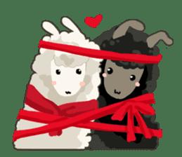 Llama in Love: Happy Valentine sticker #2913649