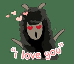 Llama in Love: Happy Valentine sticker #2913651