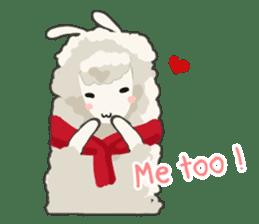 Llama in Love: Happy Valentine sticker #2913652