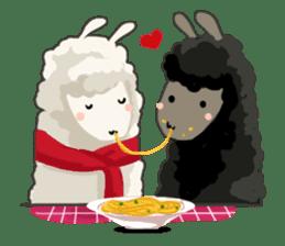 Llama in Love: Happy Valentine sticker #2913653
